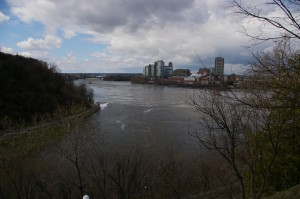 The river!