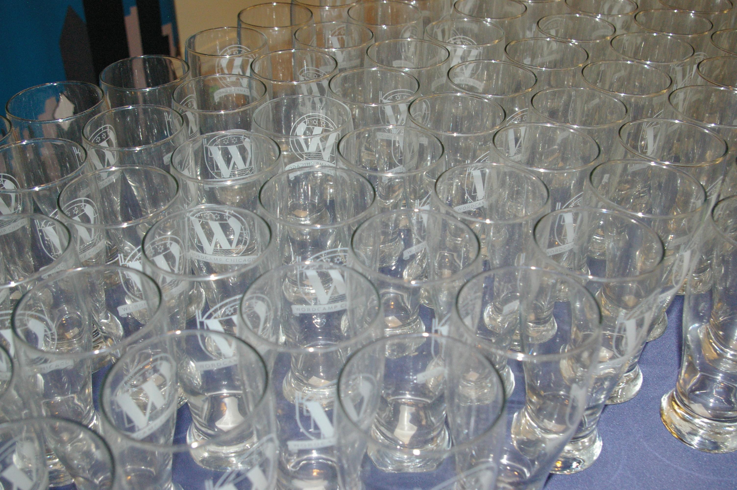 WordCamp Chicago 2014 Pilsner Glasses
