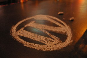 WordPress in Chalk drawn by Jamie Schmid