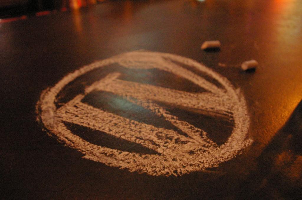 WordPress in Chalk drawn by Jamie Schmid