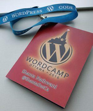 My Name Badge for WordCamp Ottawa