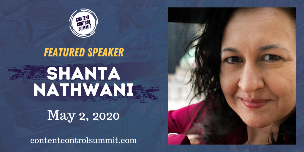 Shanta speaking at Content Control Summit